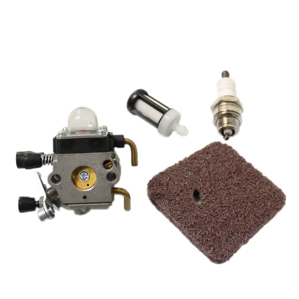 Poweka New Pack of Replace Zama Carburetor + Air Filter Spark Plug Fuel  Filter for STIHL ...